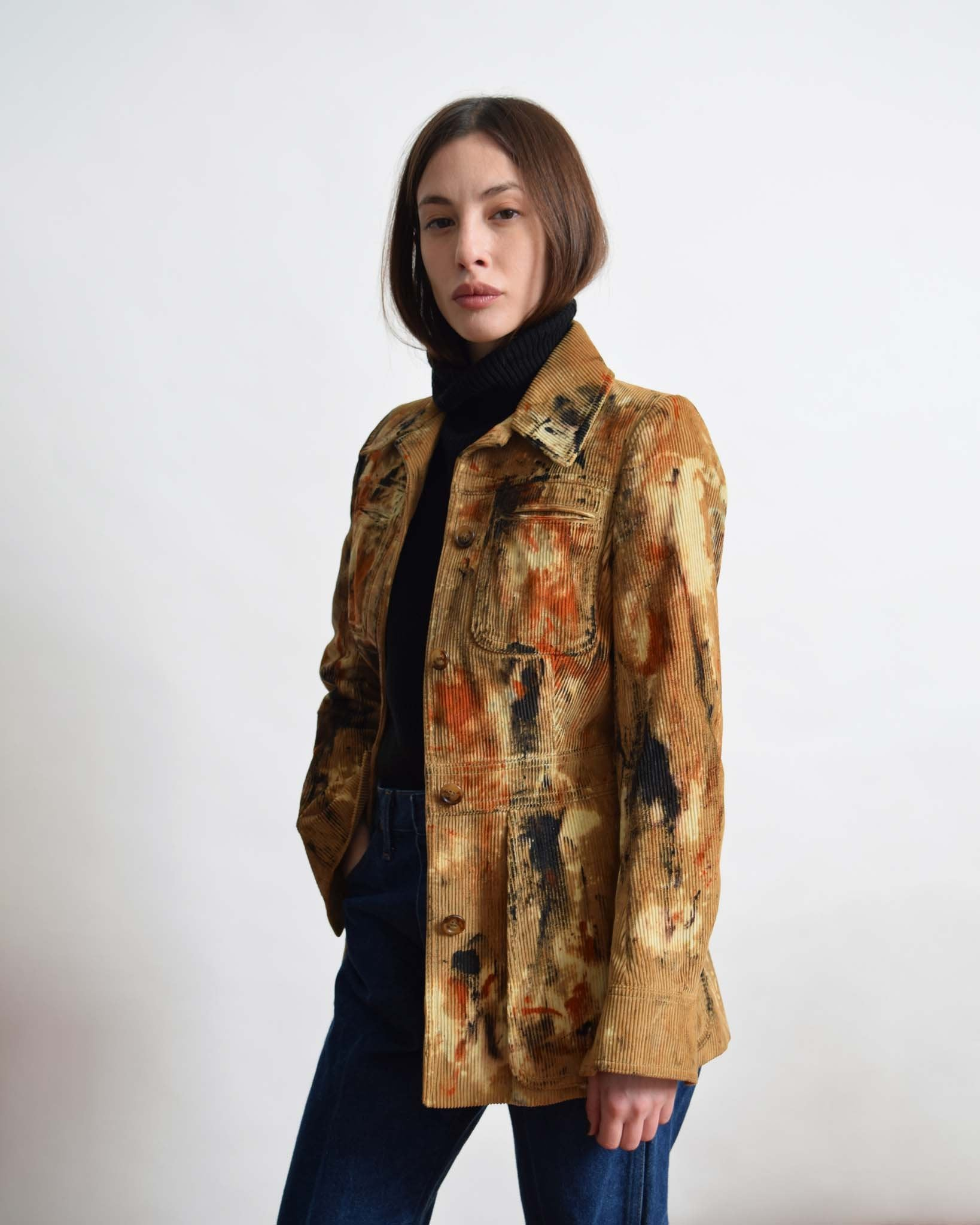 Vintage Splattered Corduroy Jacket