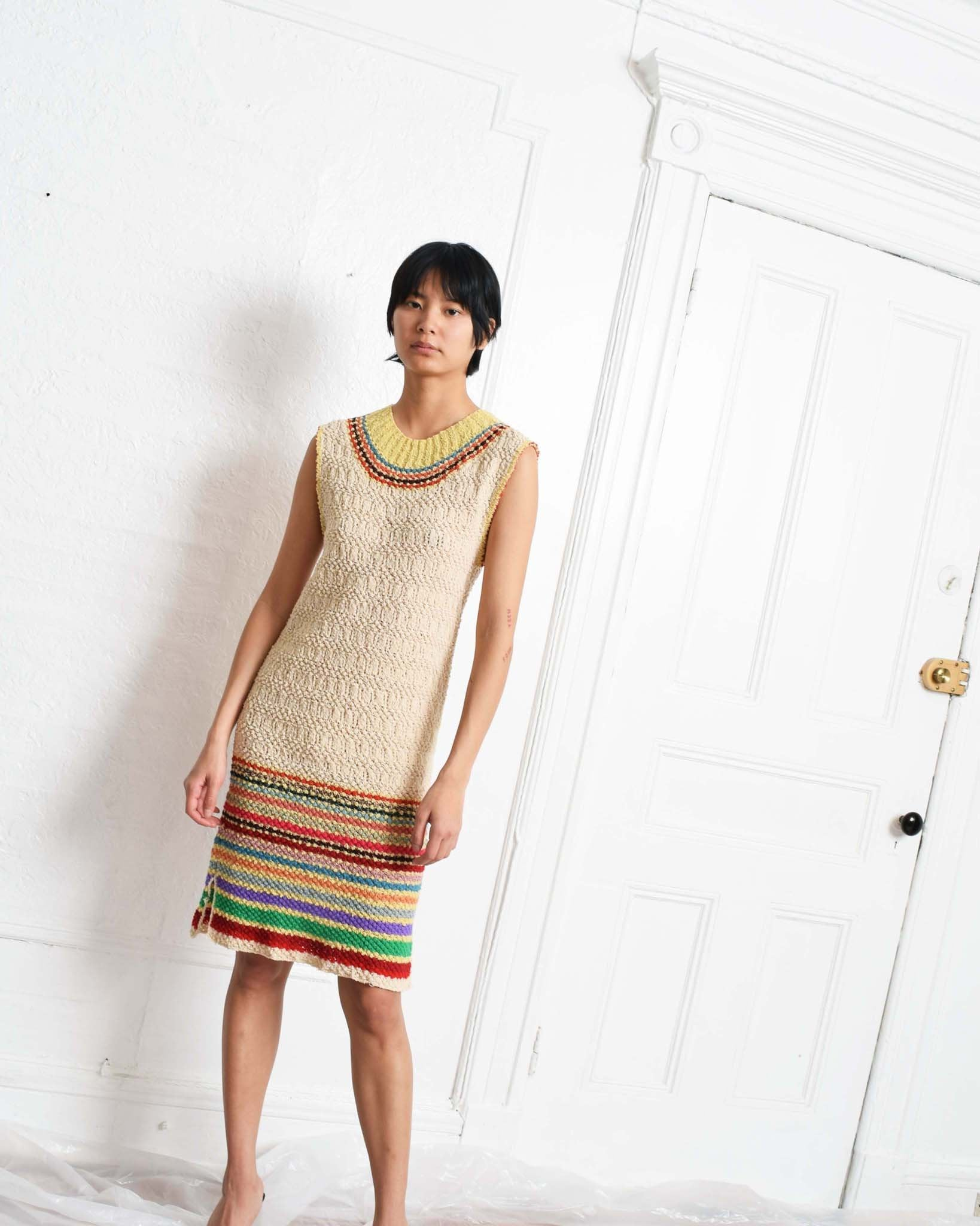 Vintage 1970s Striped Knit Dress