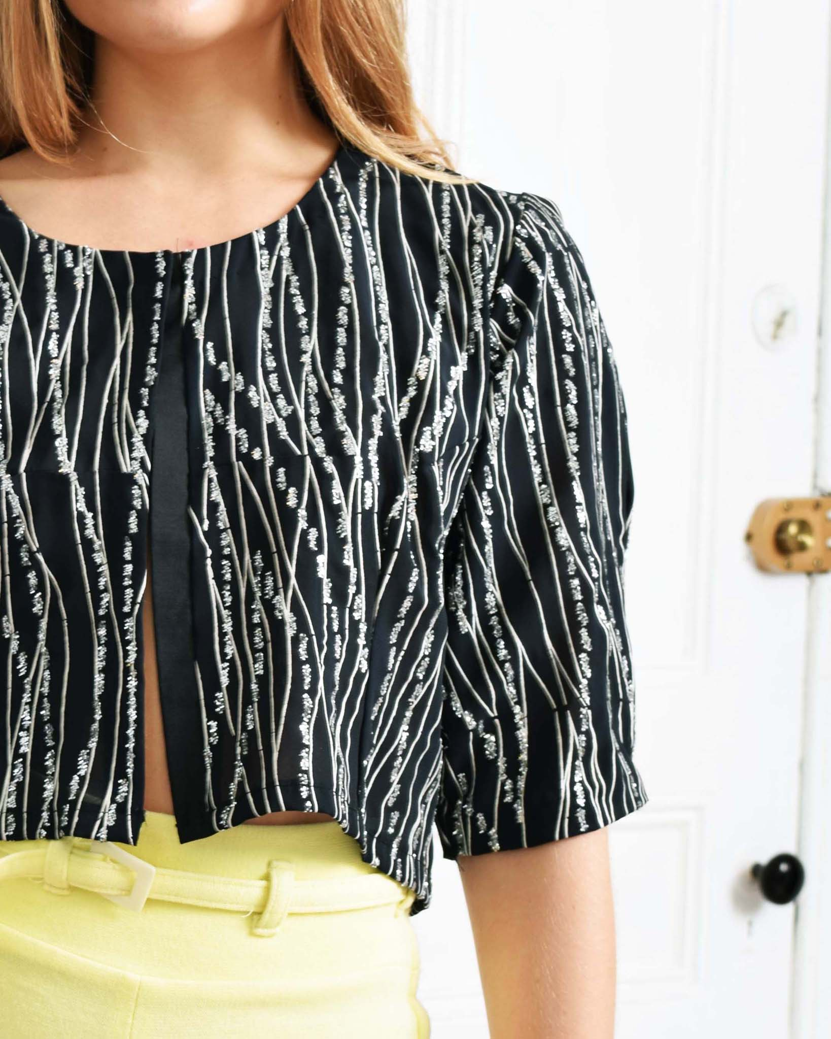 Vintage 1970s Metallic Striped Top
