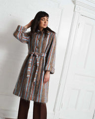 Vintage Striped Mohair Coat