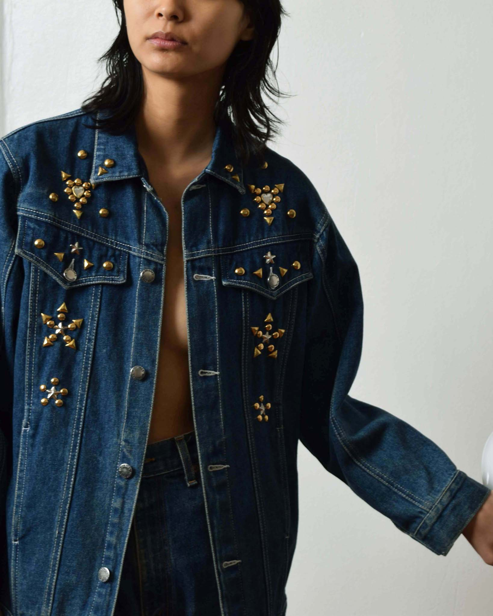 Vintage Studded Denim Jacket