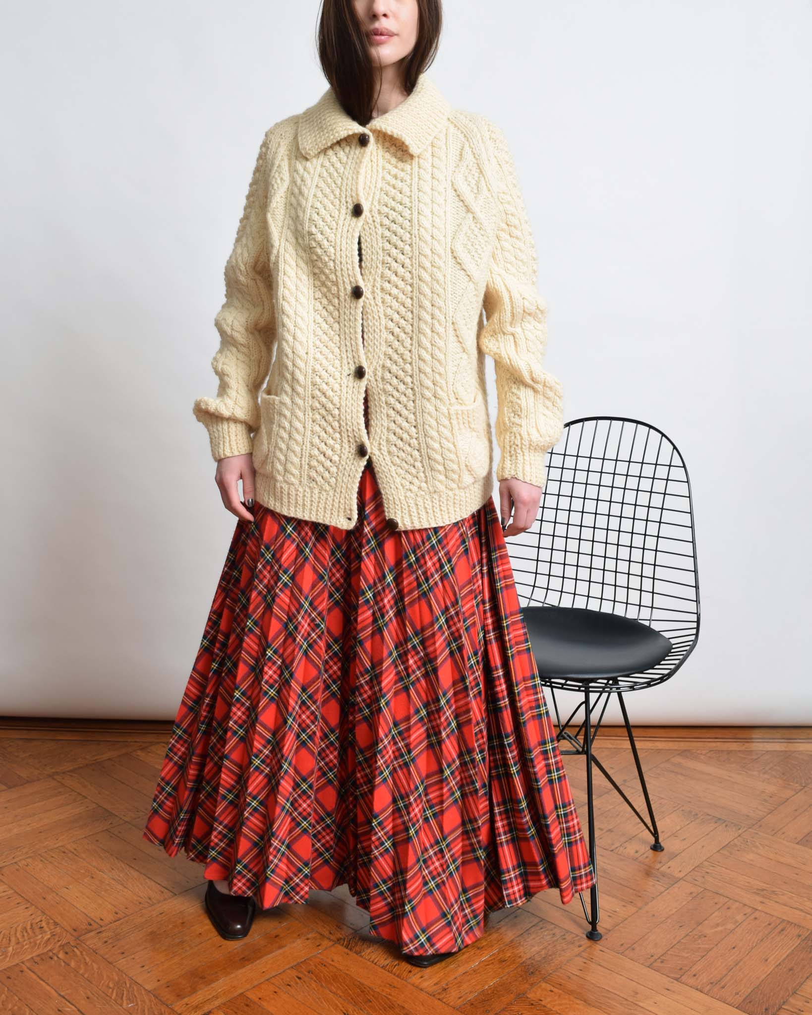 Vintage Tartan Pleat Skirt