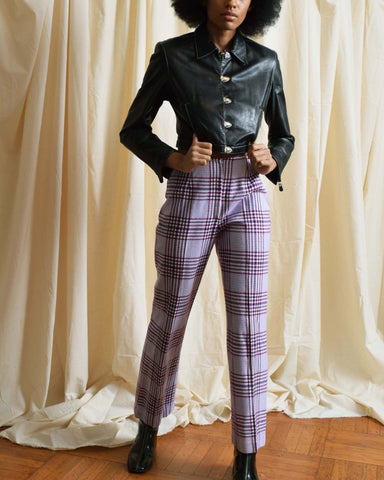Vintage Silk Cigarette Trousers