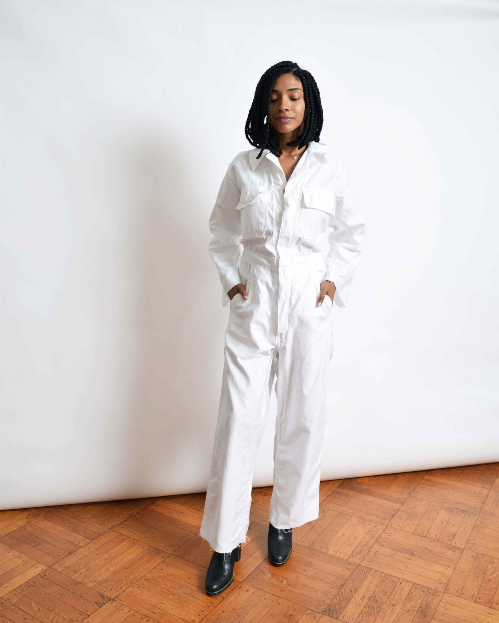 Vintage White Coveralls