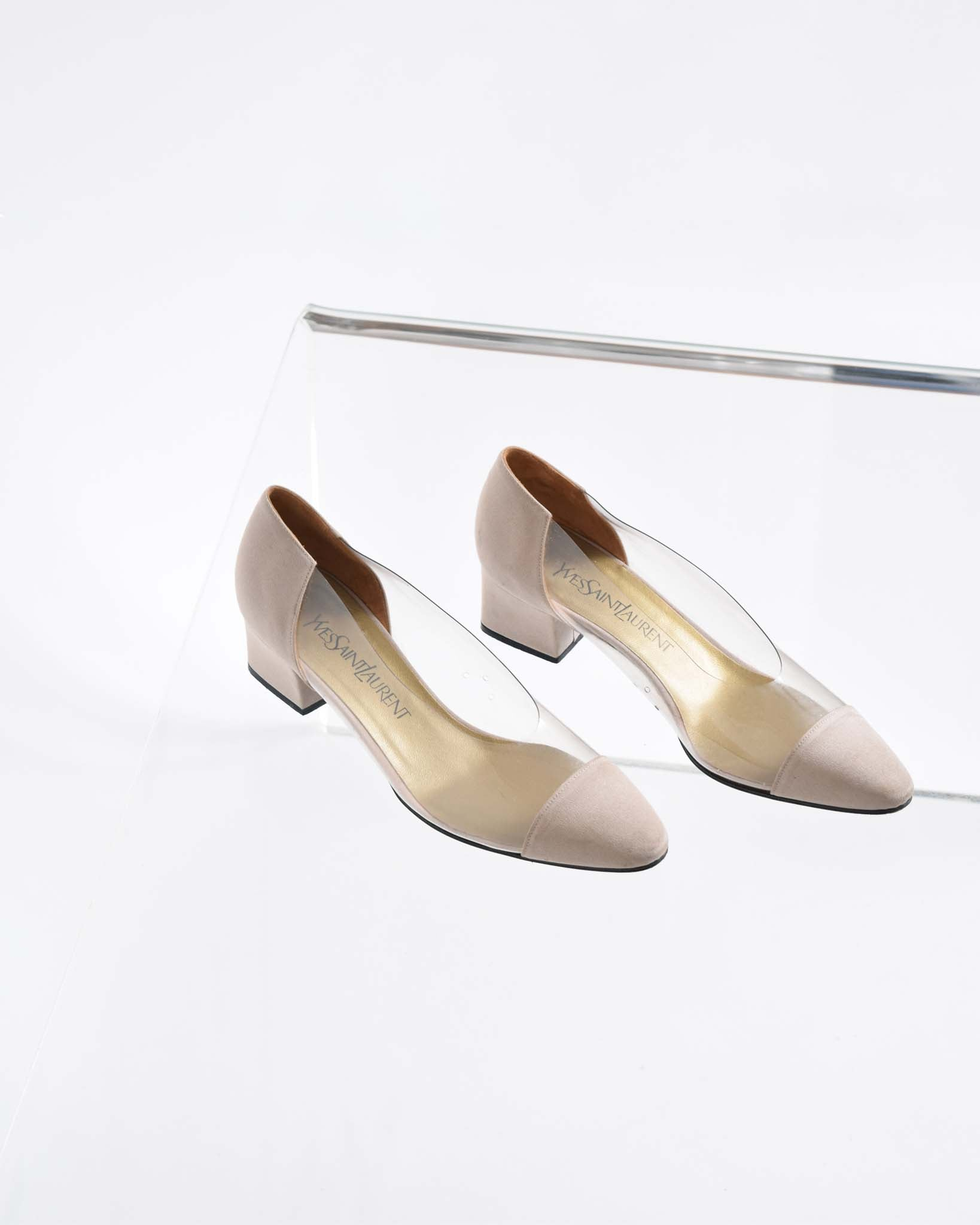 Vintage YSL Clear Pumps, Size 8