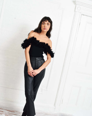 Vintage 1960s YSL Fringed Top