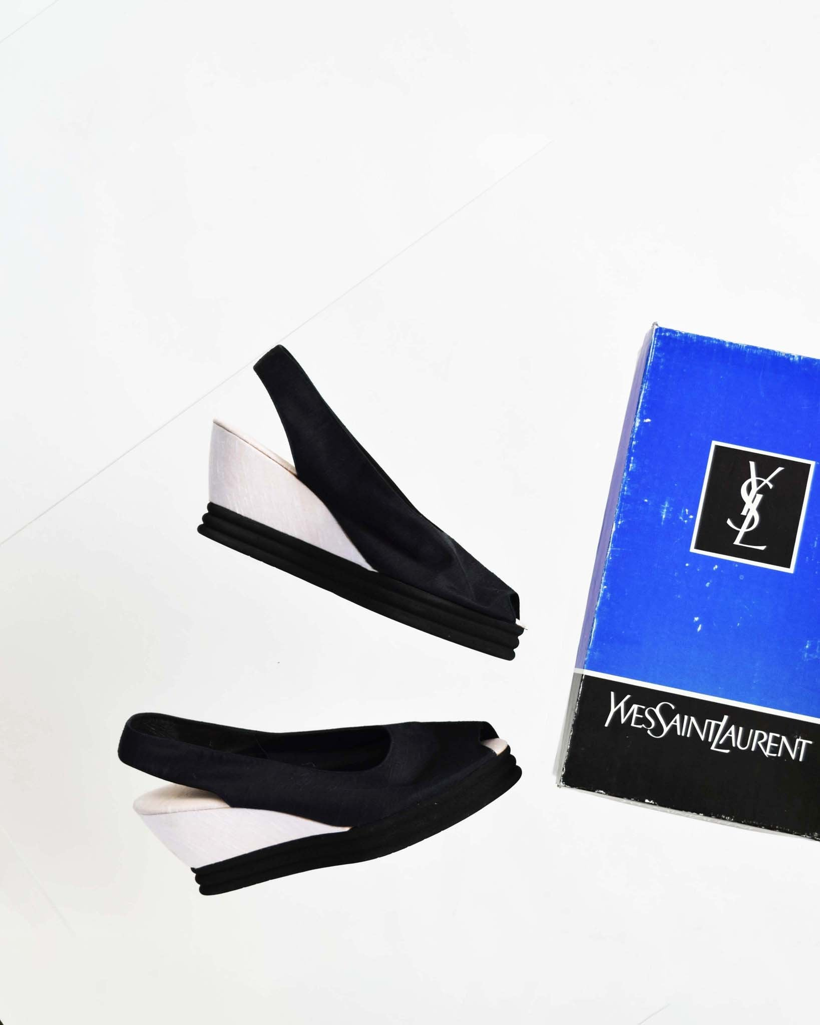 Vintage Yves Saint Laurent Wedges, Size 8.5