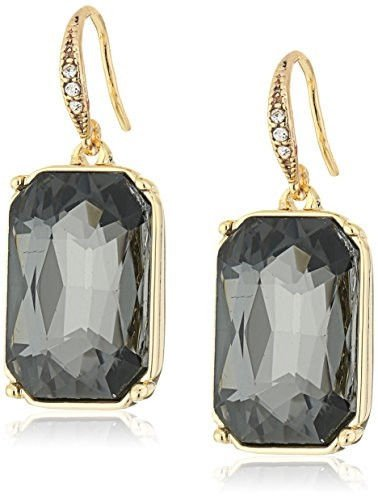 "ABS By Allen Schwartz ""Somewhere to Be"" Emerald Cut Stone Drop Earrings"