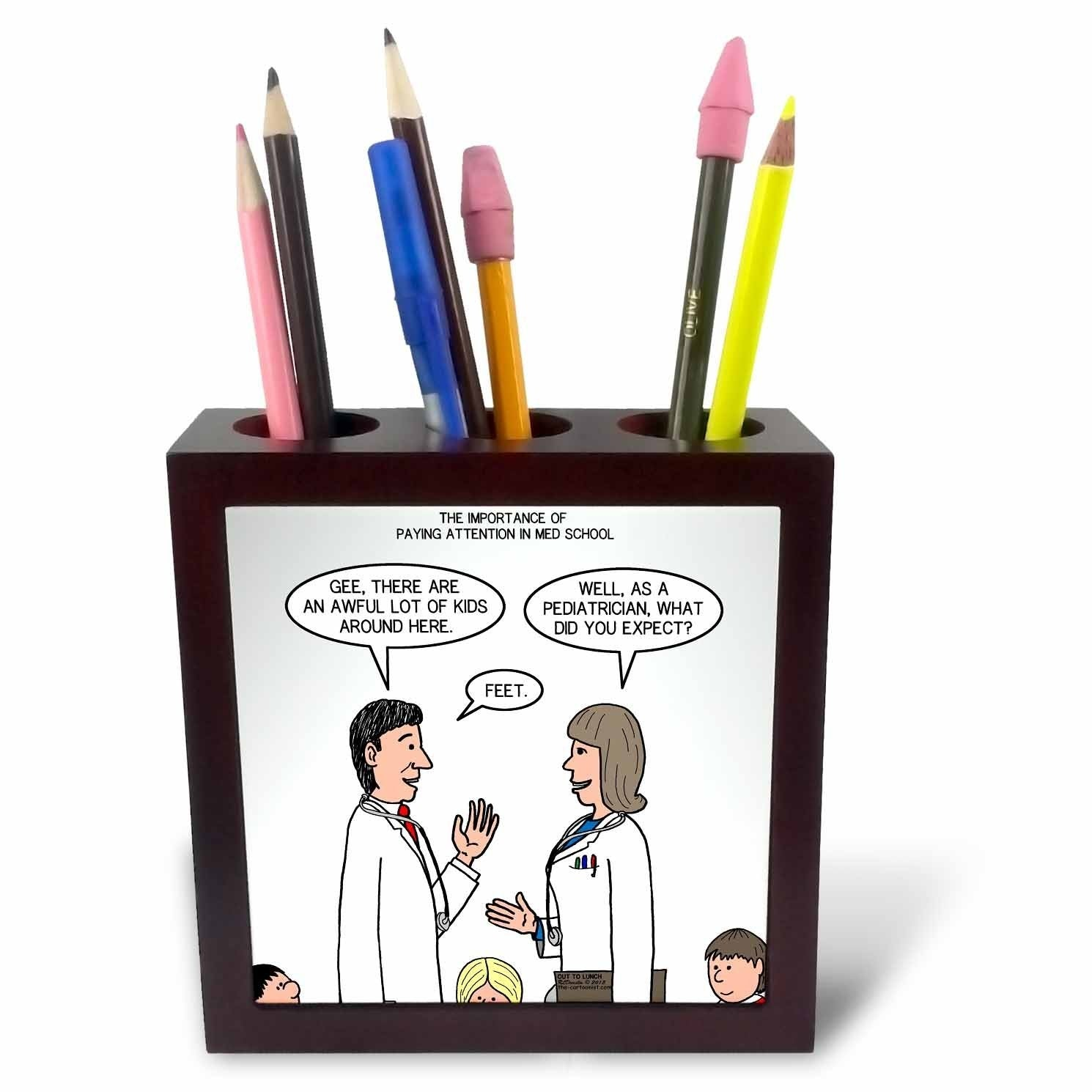 3dRose ph_119891_1 Pediatrician Tile Pen Holder, 5""