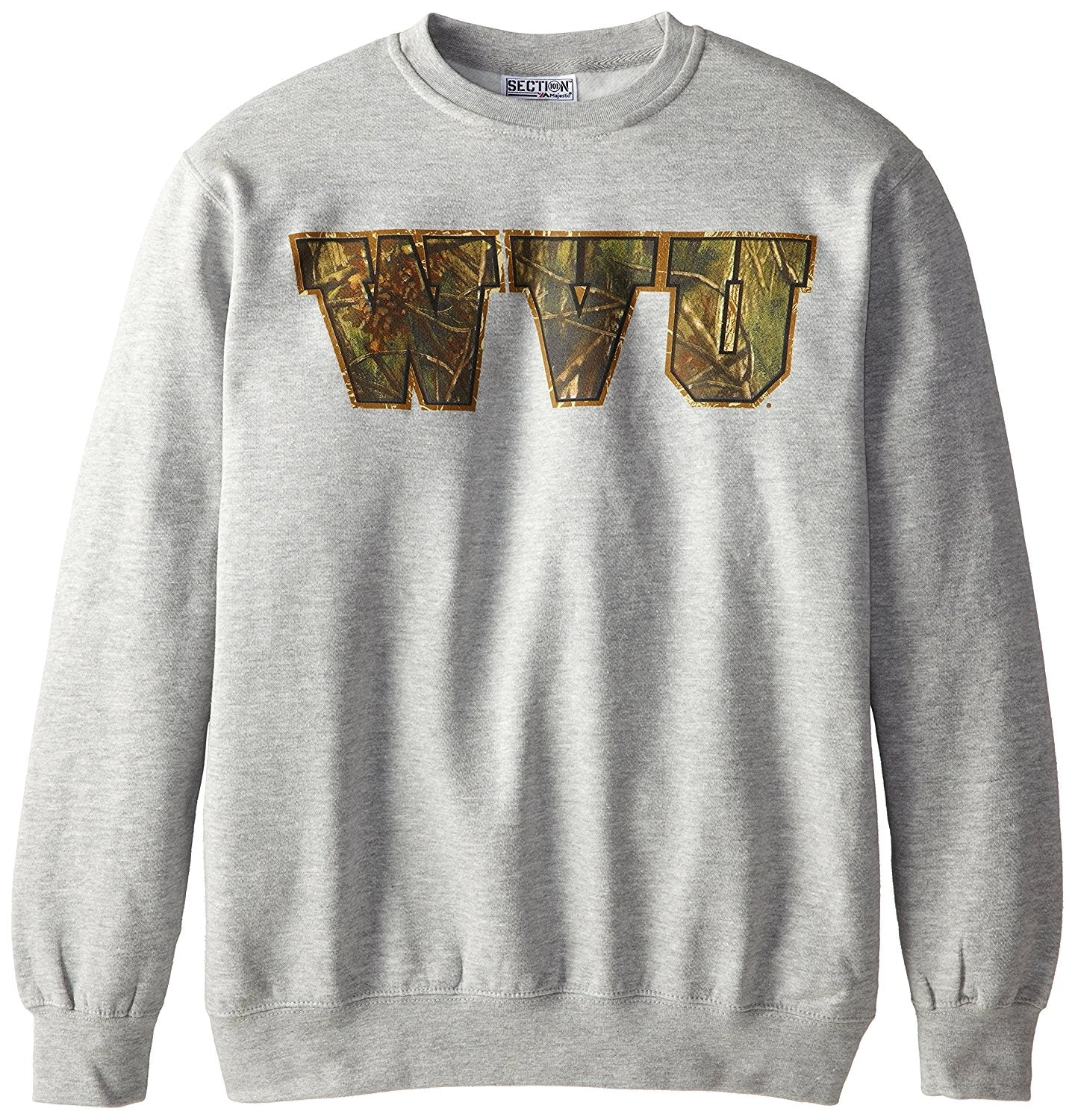 NCAA West Virginia University College Long Sleeve Crew Neck Fleece Sweatshirt