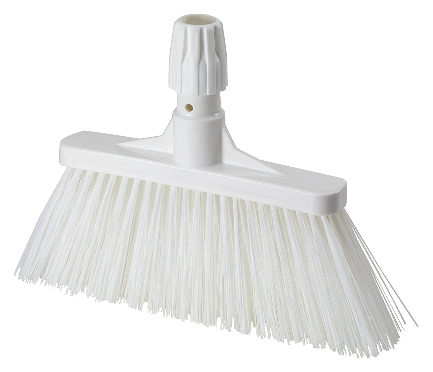 Aricasa Professional Hygiene Wide Broom, White, Medium, 6 Count