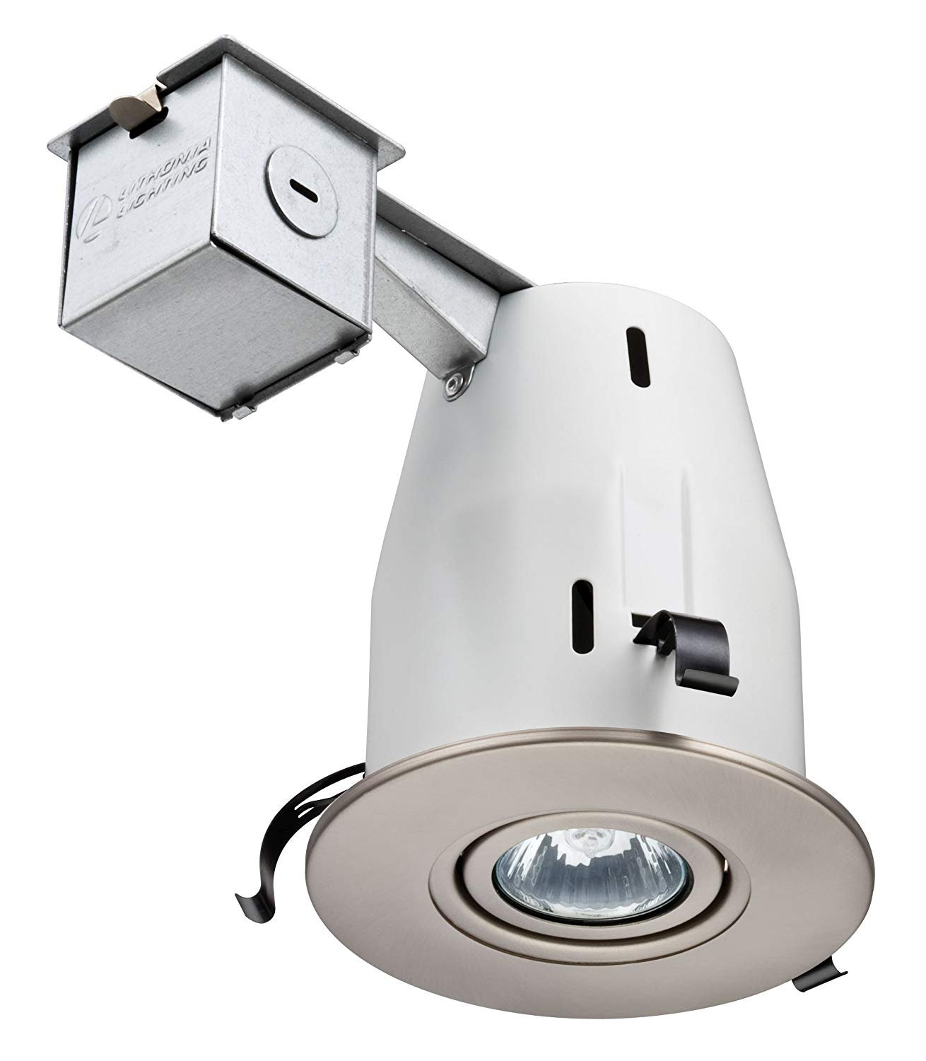 Lithonia Lighting LK4GBN M6 4 Inch Gimbal Kit with Halogen Lamp Included in Nickel