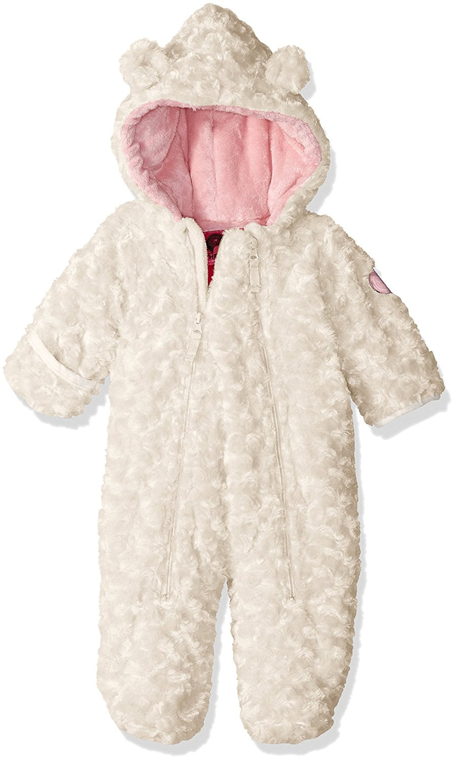 Weatherproof Baby Girls Faux Fur Knit Pram  Fleece Lining Winter White 6/9 Mths