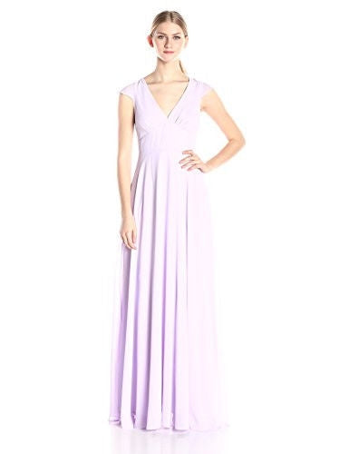Minuet Women's Cap Sleeve Long Gown, Lavender, Medium