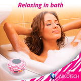 Abco Tech Water Resistant Wireless Bluetooth Shower Speaker with Suction Cup and Hands-Free Speakerphone, Pink Zebra