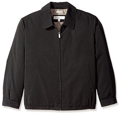 Perry Ellis Men's Microfiber Poly-Filled Golf Jacket, Black, 2XT