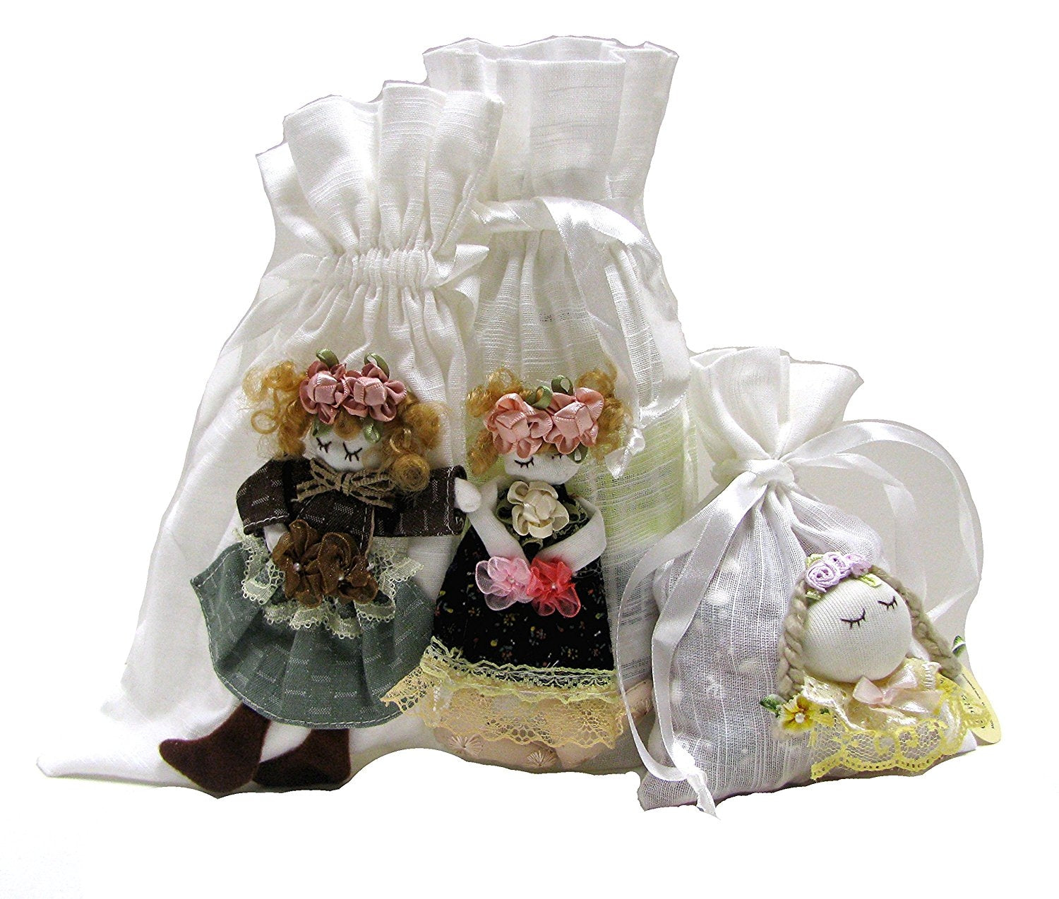 Linpeng 3 Piece Fiona Hand Made Doll Pouch Set