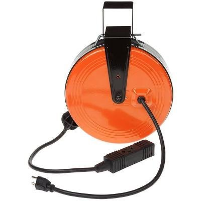 30 ft. 16/3 Heavy-Duty Retractable Reel with 3-Outlets