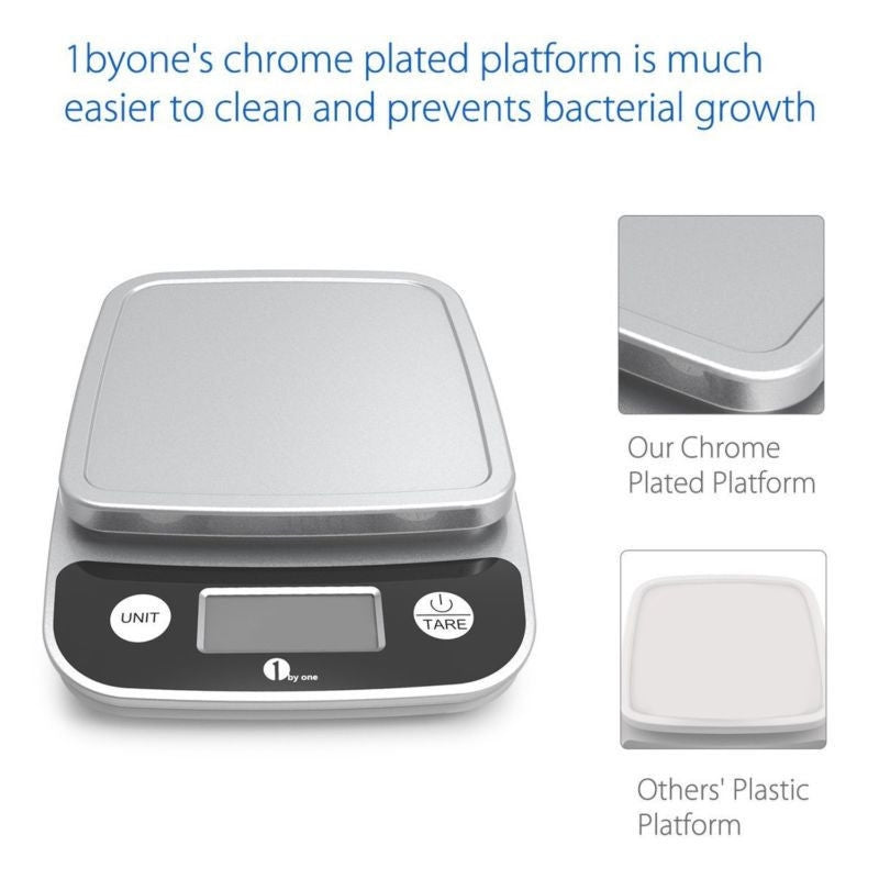1byone Digital Scale Precise Scale & Baking Multifunc..New, minor damage to box