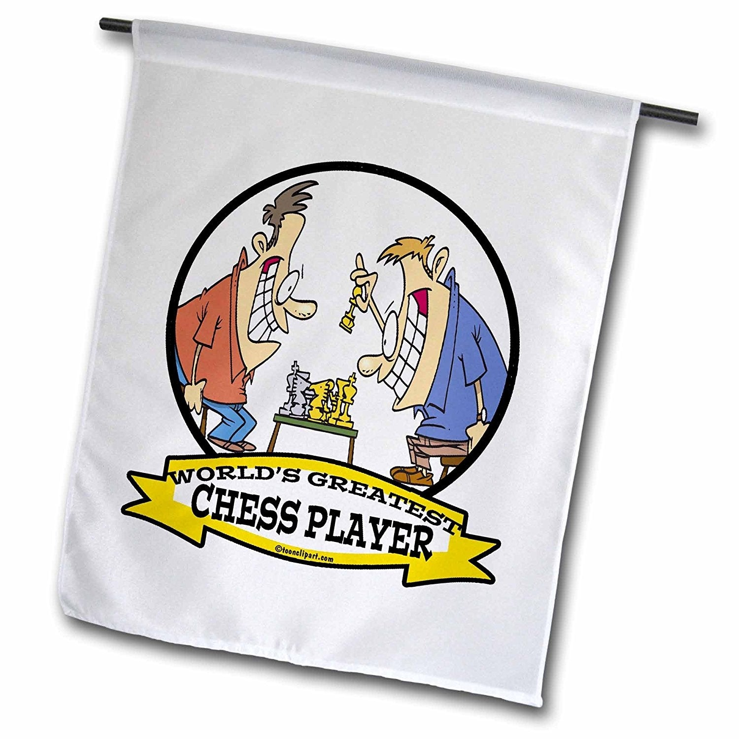 3dRose fl_103036_1 Funny Worlds Greatest Chess Player Cartoon Garden Flag, 12 by 18-Inch