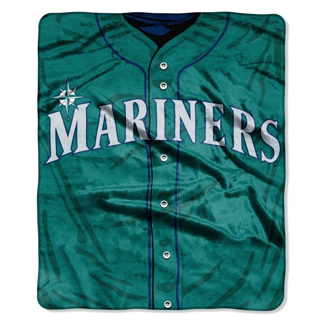"MLB Jersey Plush Raschel Throw, 50"" x 60"""