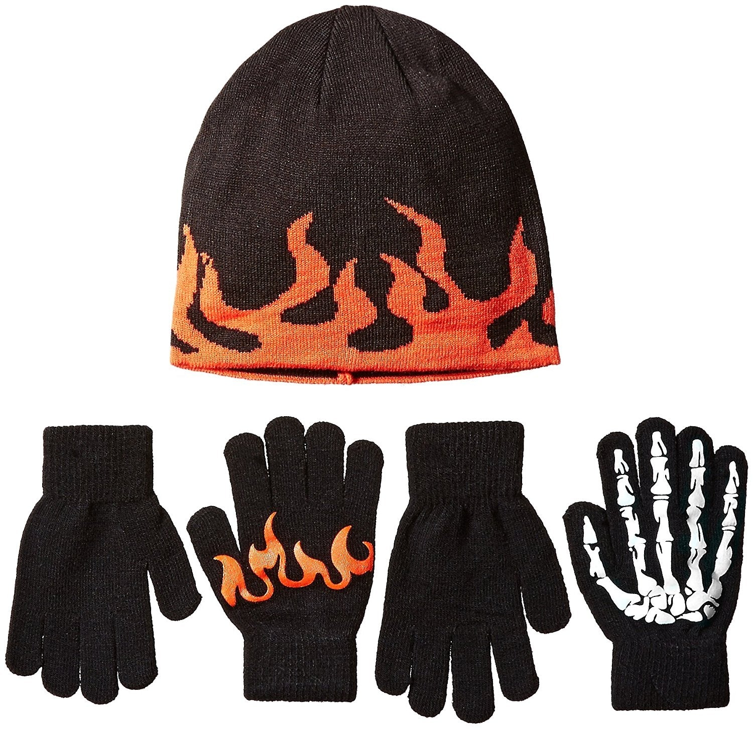 The Children's Place Little Boys Cold Weather Accessories Set, Black, 6