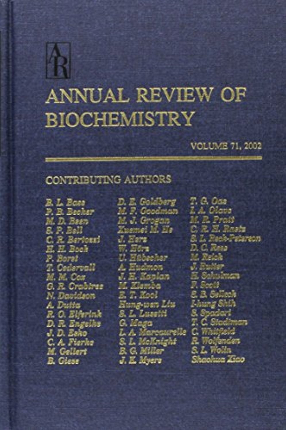 Annual Reviews of Biochemistry Volume 71 with Online Version (Annual Review of Biochemistry +)