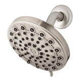 Waterpik Torrent 6-Spray 6 in. Fixed Shower Head in Brushed Nickel
