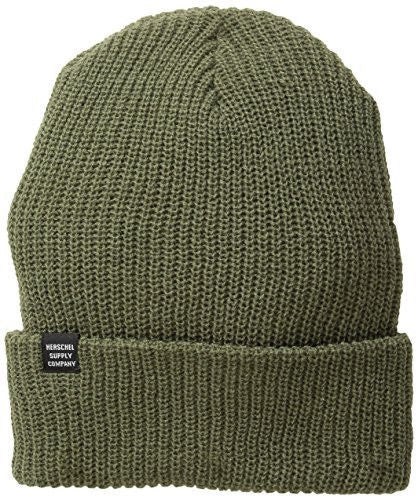 Herschel Supply Co. Men's Quartz Knit Beanie, Army, One Size