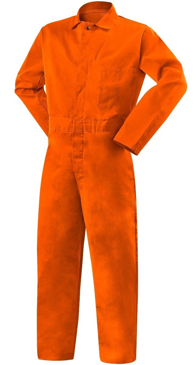 Steiner 1045-5X Weld Lite 9 oz Flame Resistant Cotton Orange Coveralls, 5X-Large