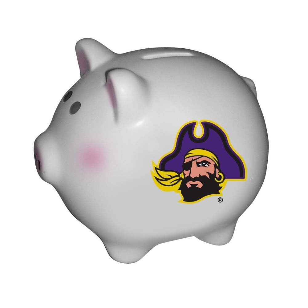 NCAA East Carolina University Official Team Piggy Bank, Multicolor, One Size