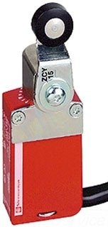 Telemecanique XCSM3715L2 Safety Limit Switch, Miniature, 1 NO + 2 NC, Plastic Roller Lever, 2 m PVC Cable, Metal Enclosure