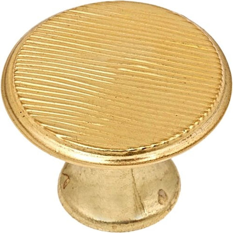 Knobware K-5152/45/ZN3/G 1-1/8-Inch Gold Crooked Lined Livery Knob