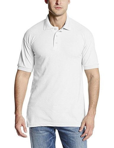 Dickies Men's Short Sleeve Pique Polo, White, Large
