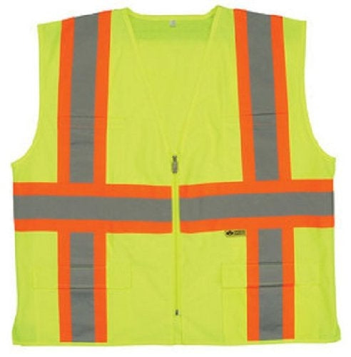 Safety Flag C2ANNSV-GN-5XL Class 2 Safety Vest, Green, 5X-Large