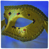 3dRose Masquerade in Antique Yellow Green Glitter Mouse Pad (mp_7021_1)