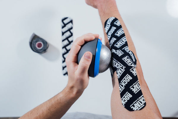 How to Recover Your Tennis Elbow (outer arm pain) Using RockTape & Ice Massage