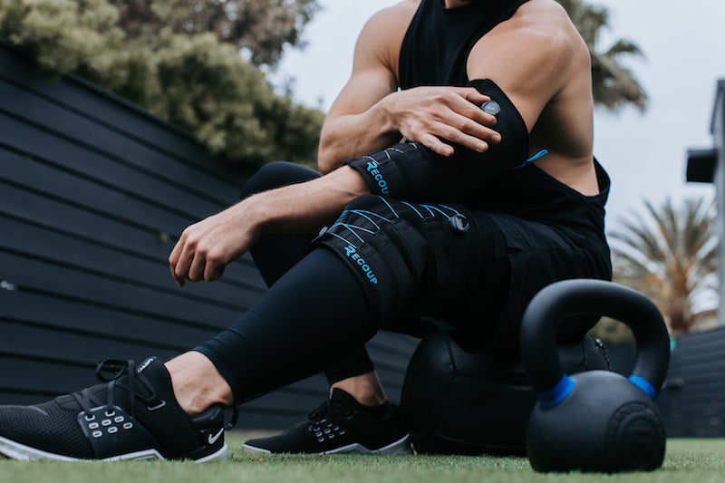 ice cold compression for knee pain treatment