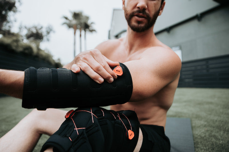 Cold compression treating pain in arms and legs