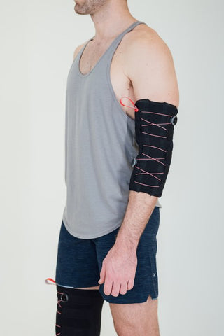 recoup thermosleeve heated compression sleeve for warming up muscles