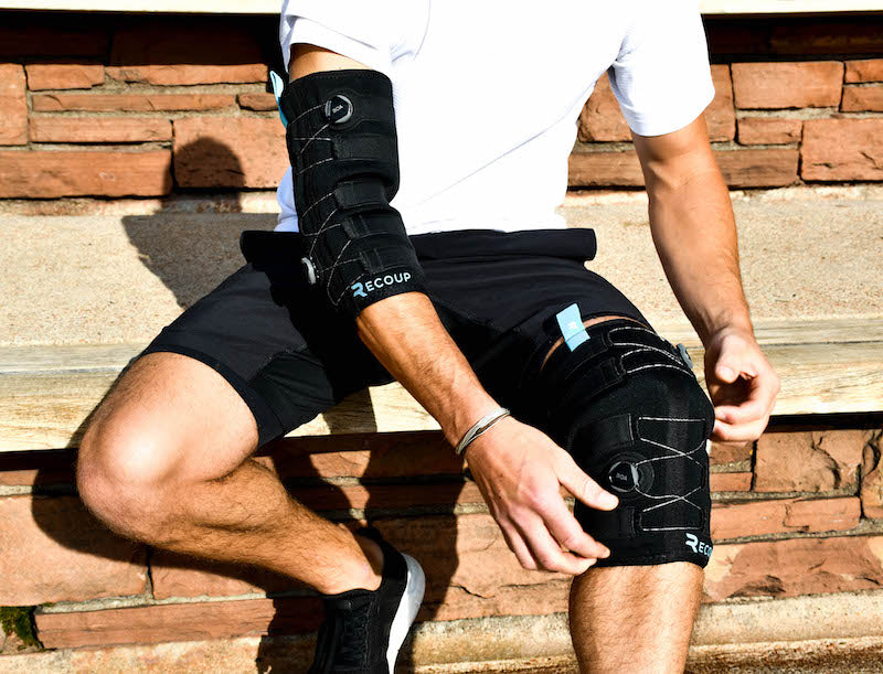 Cryosleeve treats ACL Pain, injury and post surgery.