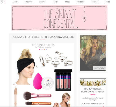 the skinny confidential x I'm with the band, gift guide, stocking stuffers, made in the use, love, shopping, holidays, fun, style, accessories
