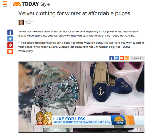 The Today Show - 'Luxe For Less' with Lilliana Vazquez