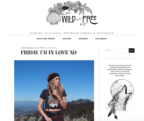 Wild And Free Jewelry Blog Feature