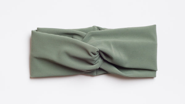 Sage Ribbed Turban