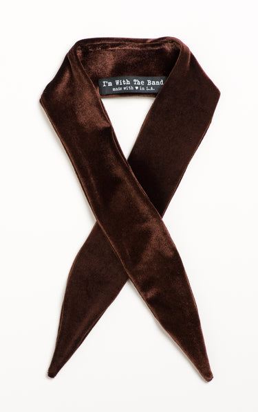 Chocolate Watchband Velvet Scarf Tie