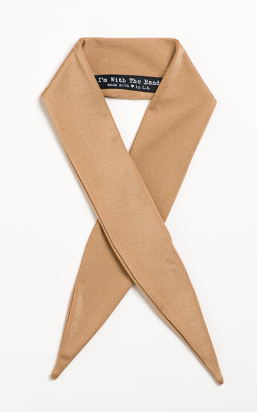 Champagne Shimmer Scarf Tie