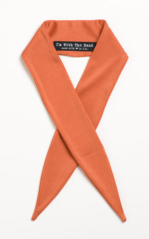 Burnt Orange Shimmer Scarf Tie