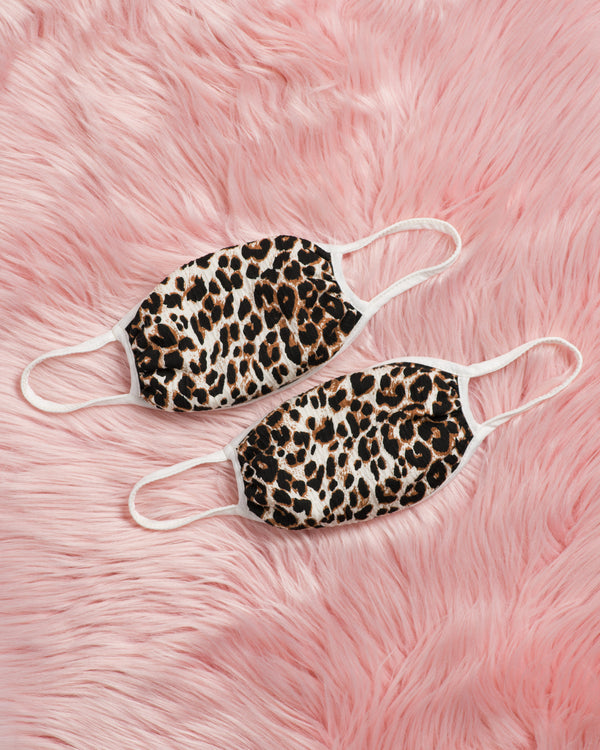 Leopard Face Masks: Two Pack
