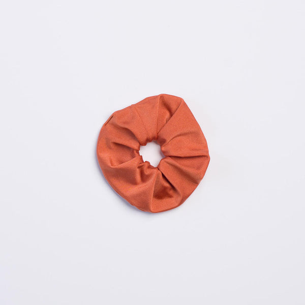 Burnt Orange Shimmer Scrunchie